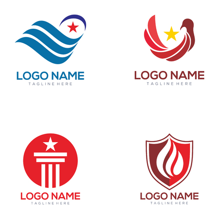 Political logo and icon design suitable for your business, company, and personal branding Illustration