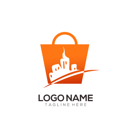 Retail and shopping logo design and icon suitable for your business, company and personal branding