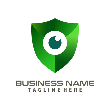 Security cyber logo design and icon suitable for your business, company and personal branding 向量圖像