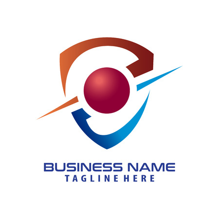 Security cyber logo design and icon suitable for your business, company and personal branding