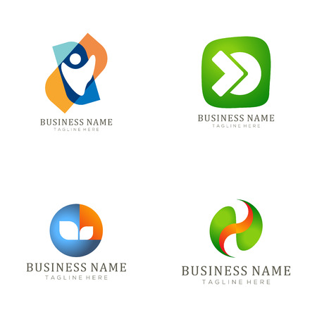 Insurance logo and icon design suitable for your business, company and personal branding