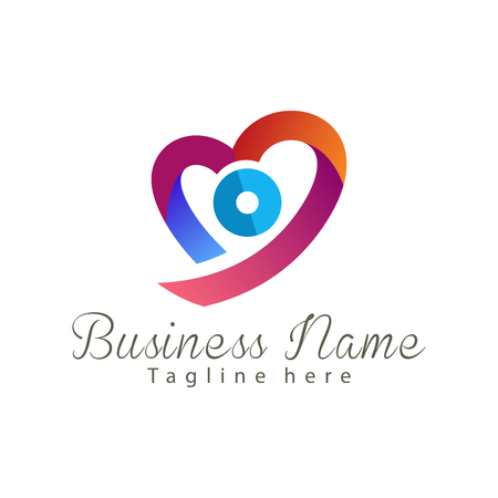 Wedding photography logo and icon design suitable for your business, company and personal branding Standard-Bild - 120254873
