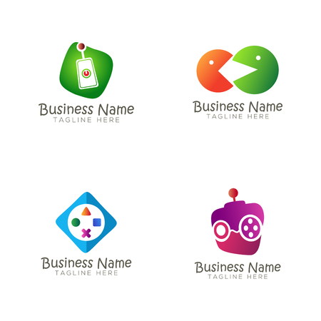 Online Game logo and icon design suitable for your business, company, team and personal branding