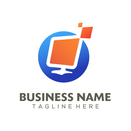 Digital advertising logo and icon design suitable for your business, company or personal branding