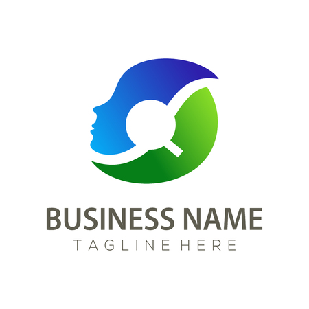 Human Resources logo and icon design suitable for your business, company or personal branding