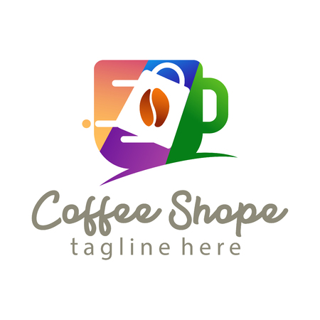 Coffee shop logo and icon design suitable for your business, company and personal branding 일러스트