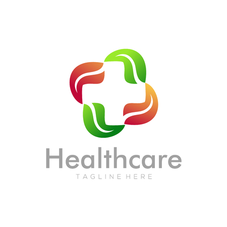 Home healthcare logo and icon design suitable for your business, company, corporate and personal branding