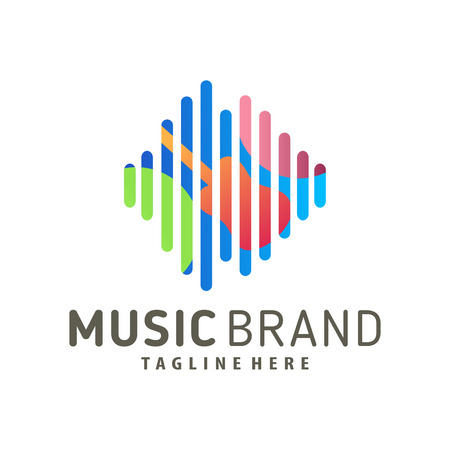 Musik-Logo-Design und -Symbol passend für Ihr Unternehmen, Ihr Unternehmen und Ihr persönliches Branding