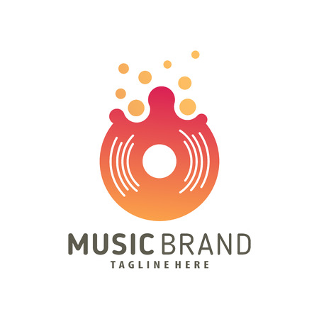 Music logo design and icon suitable for your business, company and personal branding