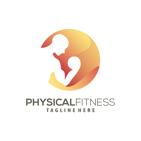 Modern Fitness logo and icon design suitable for your business, company and personal branding