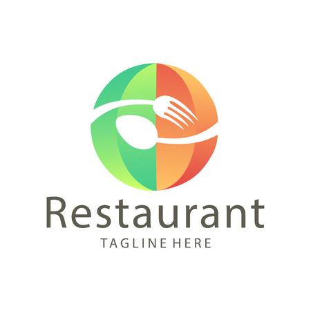 Conception élégante de logo de nourriture et de boisson de restaurant adaptée à votre entreprise, votre entreprise et votre image de marque personnelle Logo