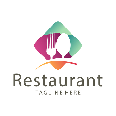 Elegant restaurant food and drink logo design suitable for your business, company and personal branding Stock Vector - 122005208