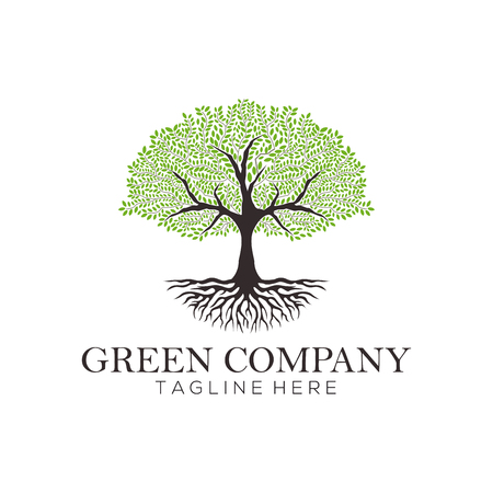 Tree leaf logo design and icon suitable for your business, company and personal branding Illusztráció