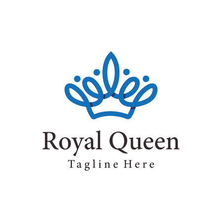 Royal Queen crown logo and icon design suitbale for your business, company and personal branding