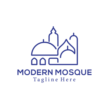 Modern mosque islamic center logo and icon design suitbale for your business, company and personal branding