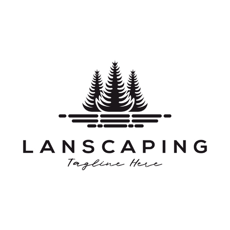 Landscaping tree forest logo and icon design suitable for your business, company and personal branding