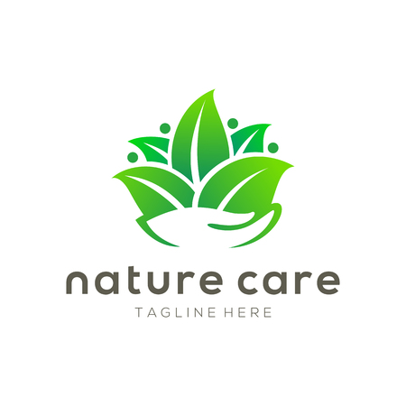 Nature care leaf logo and icon design suitable for your business, company and personal branding Illusztráció