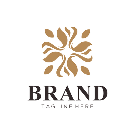 luxury golden logo and icon design suitable for your business, company and personal branding