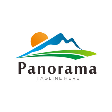 Panorama landscape logo and icon design suitable for your business, company and personal branding