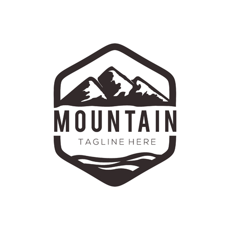 Panorama mountain landscape logo and icon design suitable for your business, company and personal branding