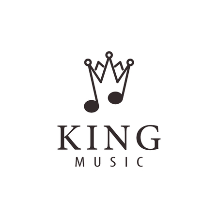 King music luxury logo and icon design, suitable for your business, company or personal branding Illusztráció