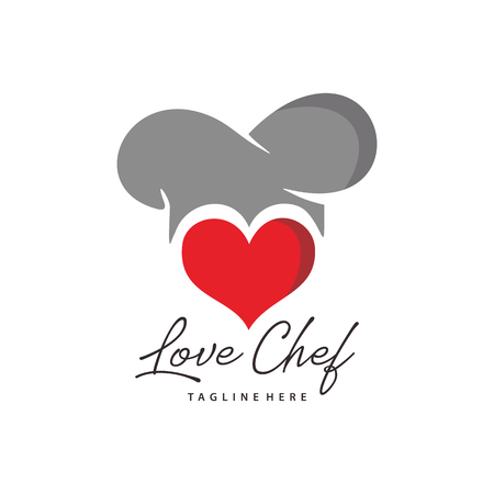love chef romantic luxury logo an icon design, suitable for your business, company and personal branding Illusztráció