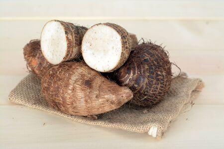 taro root on the table