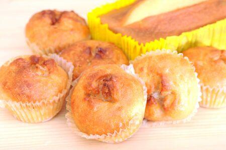 banana potato muffin display at market place