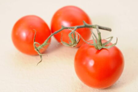 red tomato on the table from garden Stok Fotoğraf