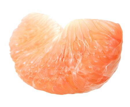 Peeled pomelo section isolated on white background Reklamní fotografie