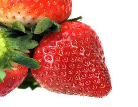 fresh strawberry isolate on white background Stock Photo