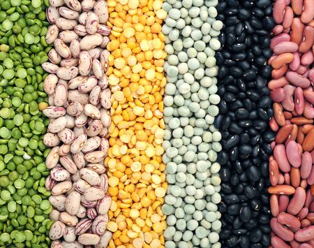 mix of beans and pea for background