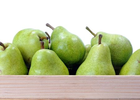 full case of pear on white background