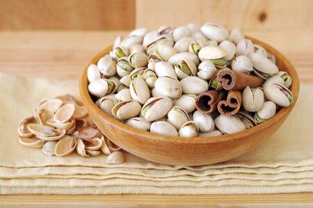 pistachios ready for eat Banco de Imagens