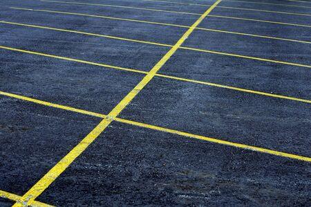 empty aging parking lot Stock fotó