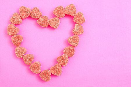 gummy candy form heart shape for Valentine Imagens