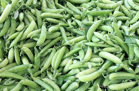 fresh ripe and organic pea pod at market place