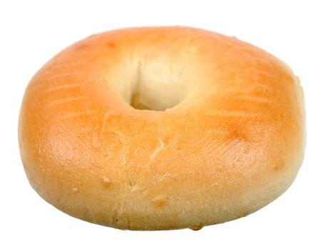 single bagel isolated on white