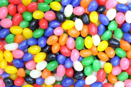 kleurrijke gummy-snoepjes voor gebruik op de achtergrond Stockfoto