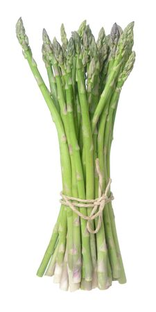 an asparagus bunch isolated on white background