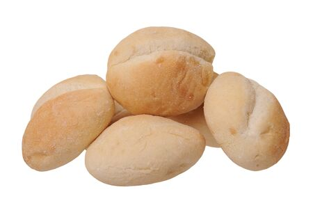 light baked bread isolate on white background