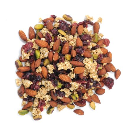 a group of mix nut on white background Imagens