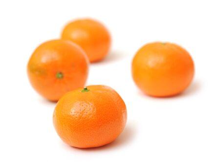 tangerines  on white background  Imagens