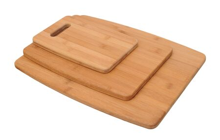 three size of cutting board isolated on white background