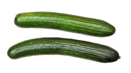 two cucumber isolated on white background