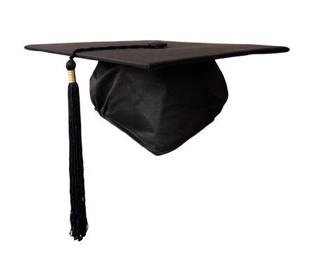 Abschlusskappe lokalisiert auf weißem Hintergrund Standard-Bild