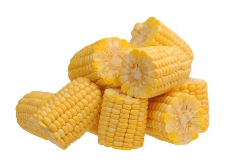 fresh corn isolated on white background