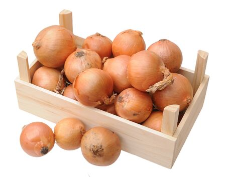 yellow onion in basket