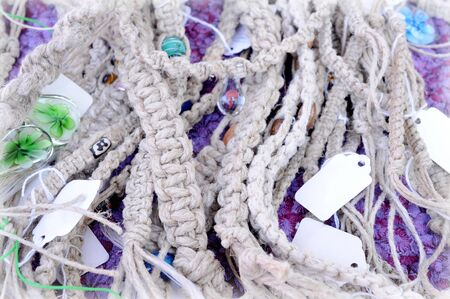many grey cord in market for background 写真素材