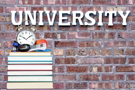 book and university for an education concept Banque d'images - 137146184